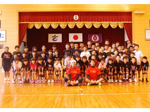 プロの技を伝授  さつま町でJAスポーツ教室を開催